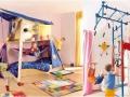 Детская комната для мальчика со спортивным уголком