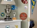 Светлые спортивные уголки в детскую комнату