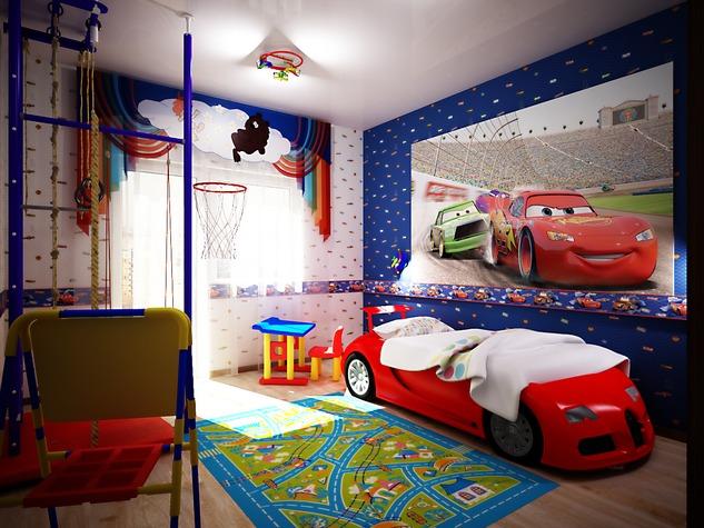 детская комната для мальчика дизайн фото готовых идей