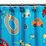 Цветовая гамма шторы для детской комнаты мальчика.