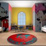 Дизайн детской комнаты для разнополых детей из микки мауса