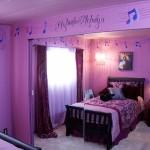 Фиолетовый интерьер комнаты для девочки подростка фото