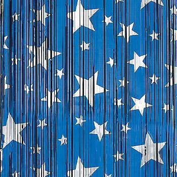 Голубой и синий оттенок шторы для детской комнаты мальчика.