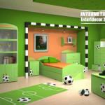 Inter'er detskojj komnaty dlja mal'chikov foto so sportivnojj ploshhadkojj