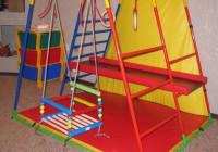 Интересные спортивные уголки в детскую комнату