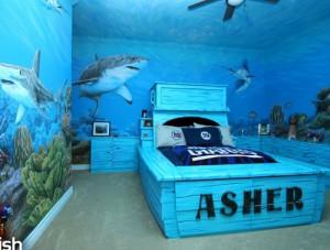 Морской интерьер детской комнаты для мальчиков фото