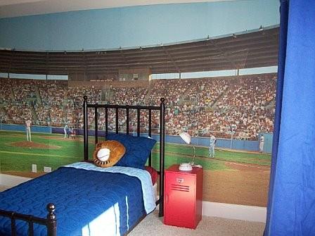 Отделка стен и интерьер комнаты для подростка мальчика