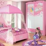 Розовый цвет в интерьере детской комнаты девочки