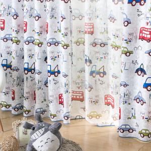 Самый простые шторы для детской комнаты мальчика.