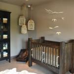 Скандинавский интерьер детской комнаты для младенца