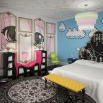 Современный интерьер детской комнаты в стиле манга