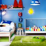 дизайн детской комнаты для двоих детей 12 метров