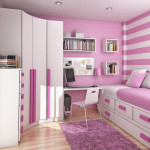 интерьер маленькой детской комнаты для девочки подростка