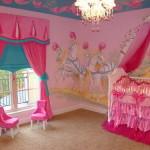 Натуральные шторы в детскую для девочки