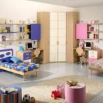 Простой интерьер детской комнаты для разнополых детей