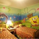 интерьер детской комнаты для разнополых детей - мультфильмы