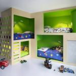 интерьер для маленькой детской комнаты для разнополых детей