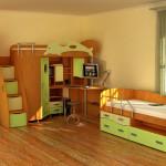 Купить мебель для детской комнаты для мальчика из дерева