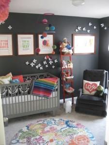 Мебель для детской комнаты для мальчиков темных оттенков