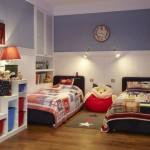 Освещение и дизайн детской комнаты для двух мальчиков