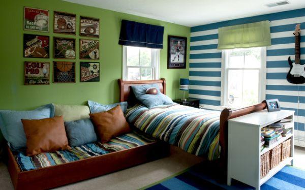 Разноцветный дизайн проект детской комнаты для двух мальчиков