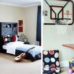 Спортивный дизайн детской комнаты для двух мальчиков