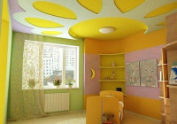 Желтый цвет стен в детской