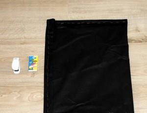 Мешок для пылесоса своими руками и помощь степлера