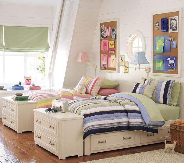 Мебель детская для двоих и оформление комнаты