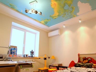 Натяжные потолки в детскую комнату для девочки
