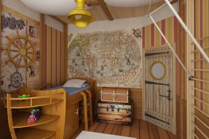 Загадочная детская мебель в морском стиле