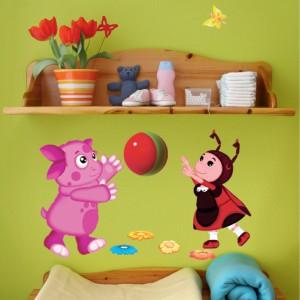 Детские наклейки на мебель с разными персонажами