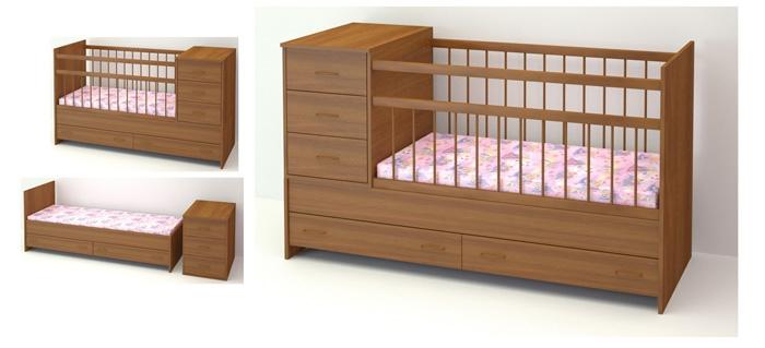 Кроватка трансформер для новорожденных