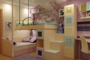 Спортивная комната и ростомер детский