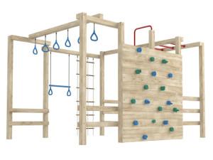 Большая детская шведская стенка с креплением к стене