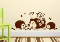 Монохромные детские наклейки на мебель