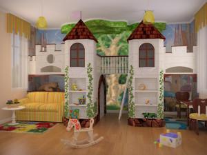 Сказочный дизайн и ростомер детский