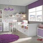 Аккуратная мебель для маленькой детской комнаты для девочки