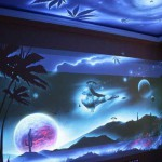 Ночные 3d обои на стену