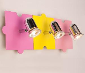 Детский настенный светильник с несколькими лампочками