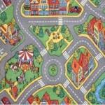 Большой детский ковер с дорогами фото