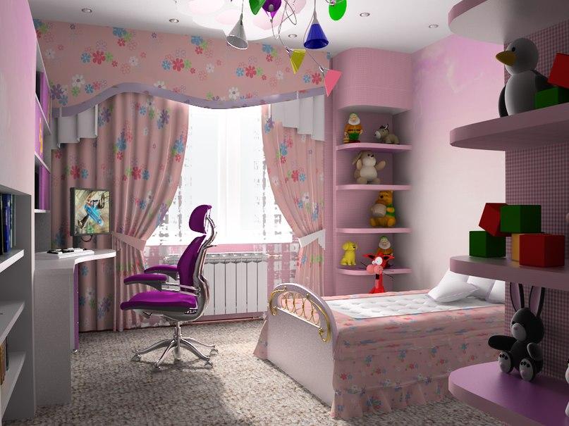 Планировка детской комнаты для девочки идеал современных решений