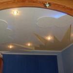 Какой потолок сделать в детской комнате с освещением