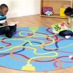 Ковры для детской комнаты фото круглого варианта
