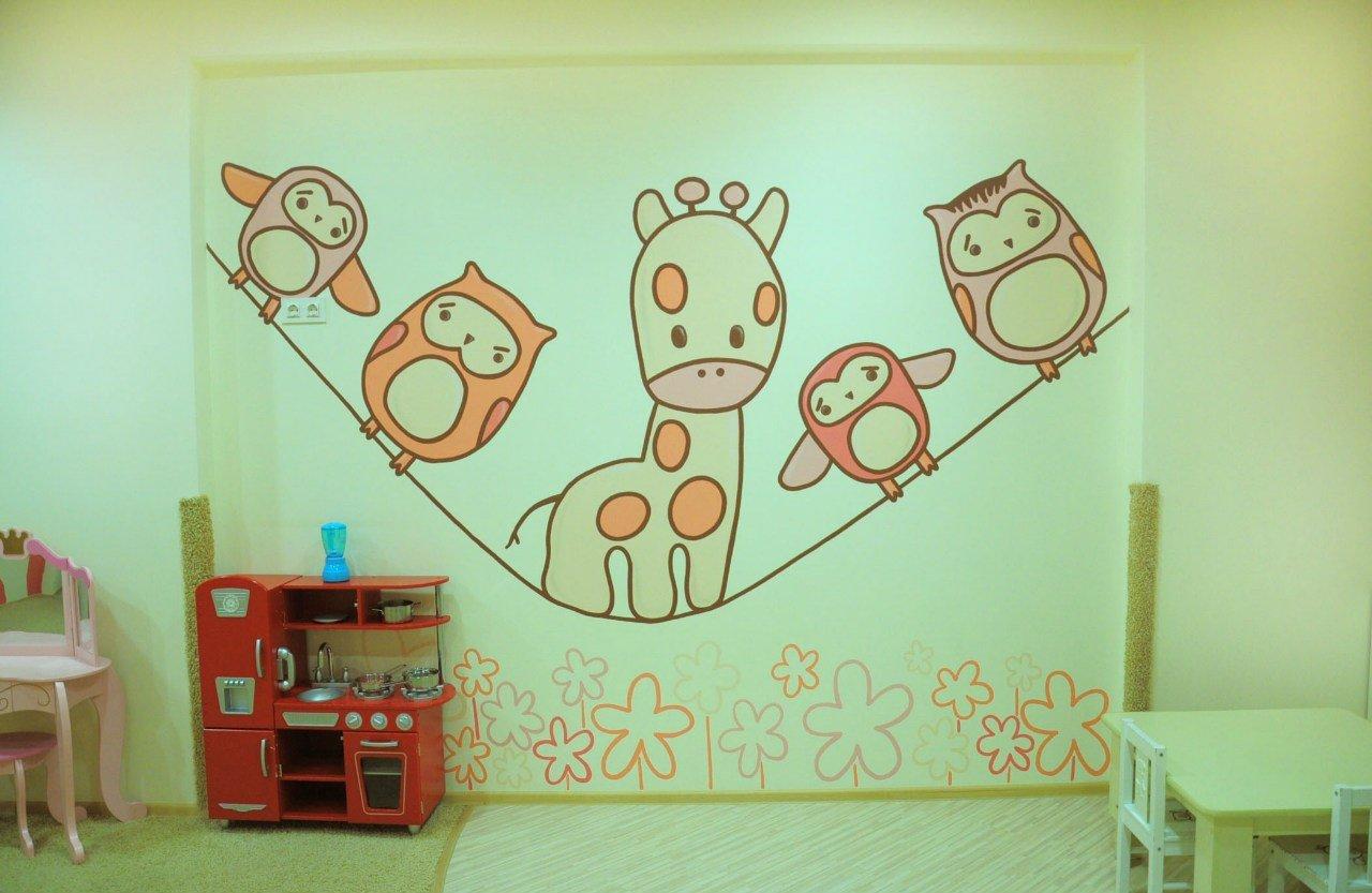 Оформление стен своими руками детской комнаты