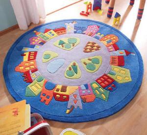 Круглые детские ковры для девочек фото