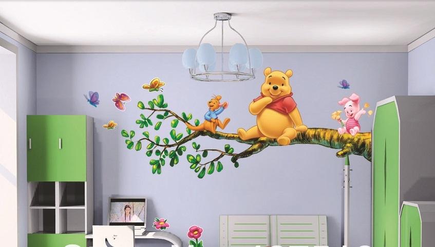 Наклейки на обои в детскую комнату, дополнительный декор