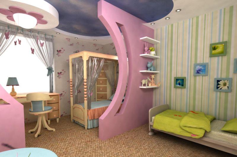 Какие купить обои для детской комнаты разнополых детей?