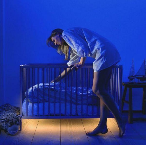 Обычная подсветка детской кроватки