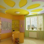 Посмотреть натяжной потолок в детской комнате фото